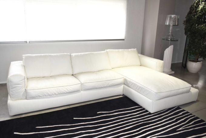 divano frighetto pelle bianca
