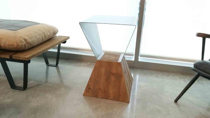 Tavolino geometrico Dialma Brown