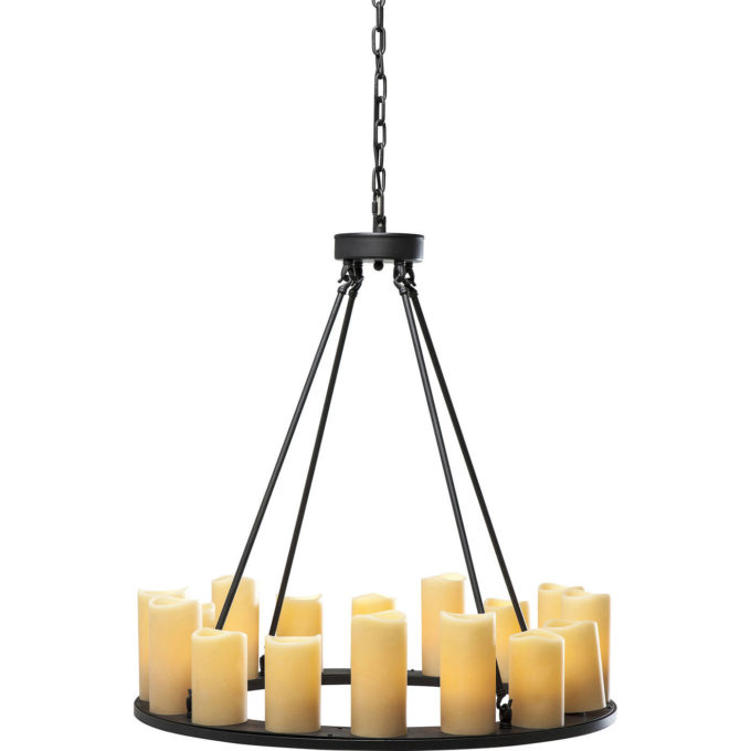 Lampadario Candle Light Round