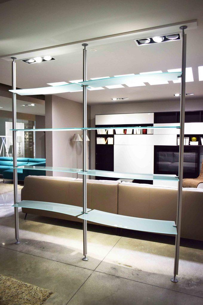 libreria cattelan vetro alluminio