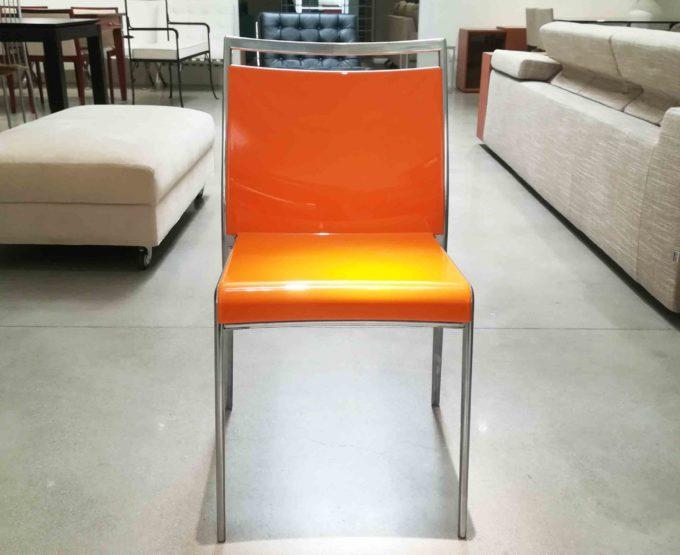 Sedia in propilene arancione
