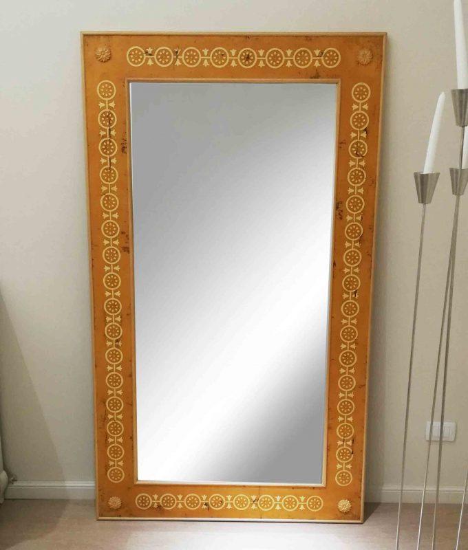 Specchio BAGA arancio anticato