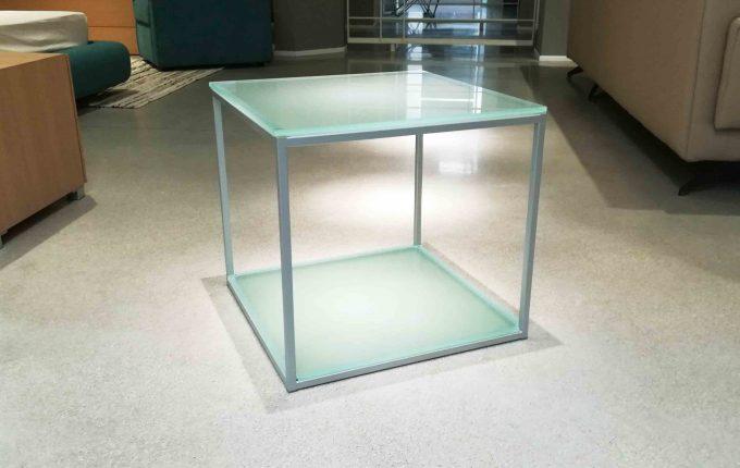 Tavolinetto 2 piani vetro