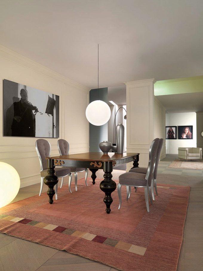 tavolo in ciliegio fisso sagomato nero 1