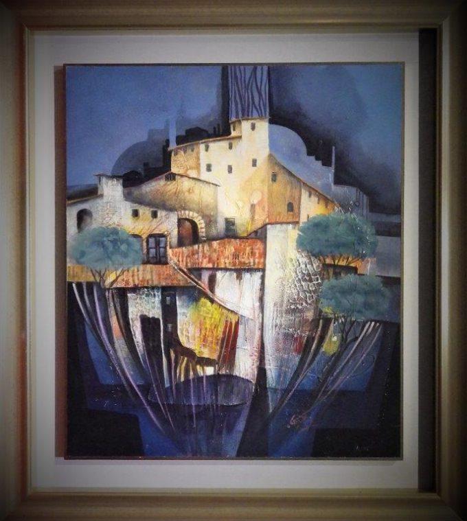 Cagili Giovanni - Paesaggio emiliano - 60x70 cm