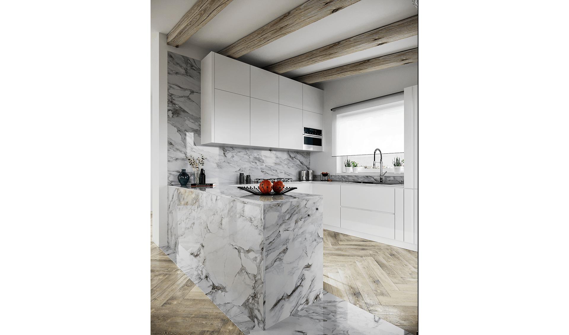 Cucina con marmo Progetti D'Amico Arreda Group