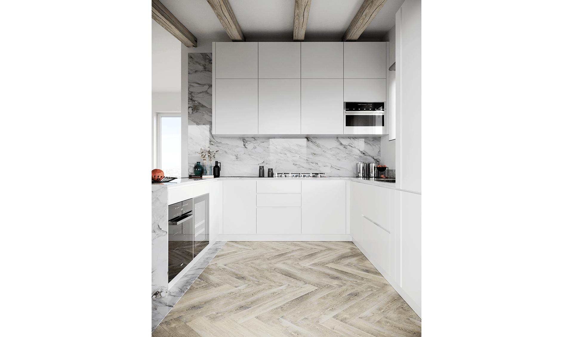 Cucina marmo bianco D'Amico Arreda Group