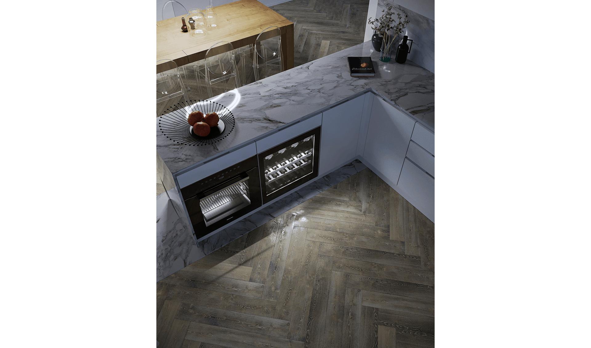 Cucina marmo e legno D'Amico Arreda Group