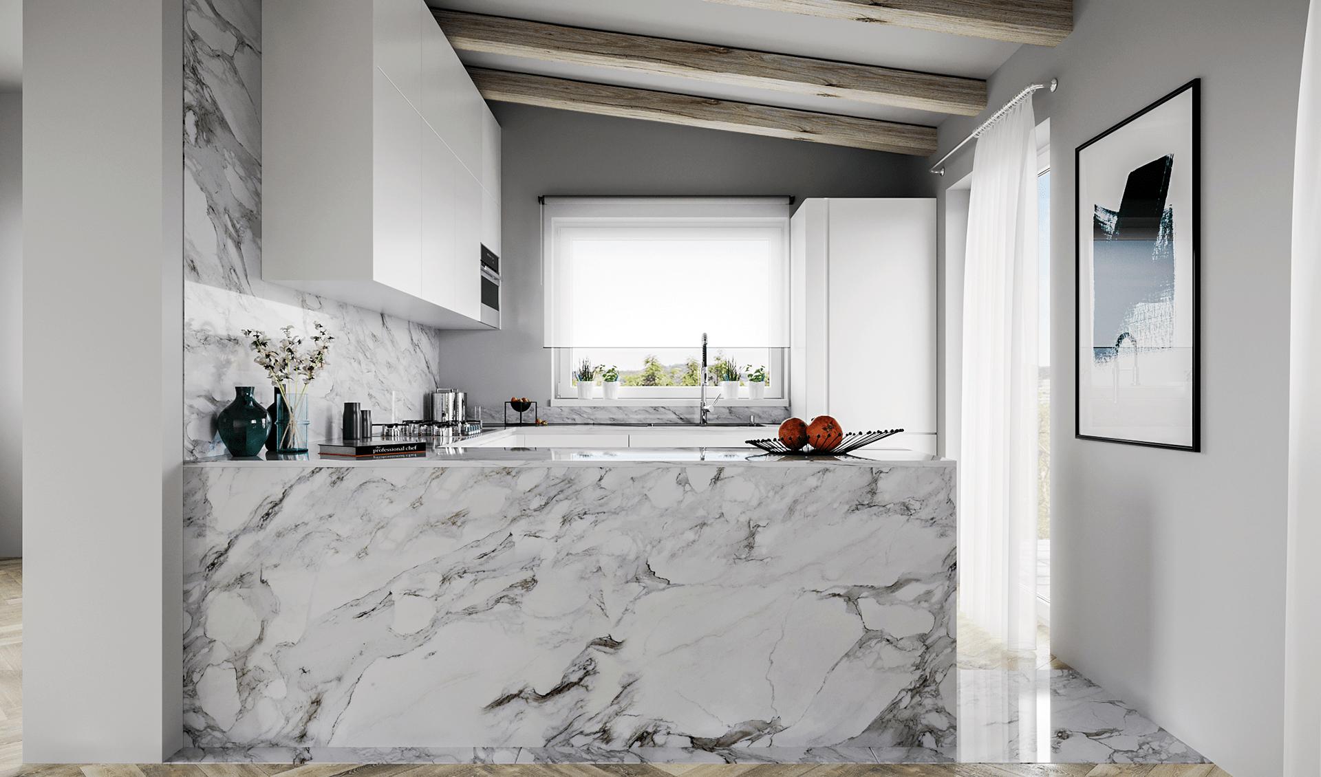 D'Amico Arreda cucina marmo bianco