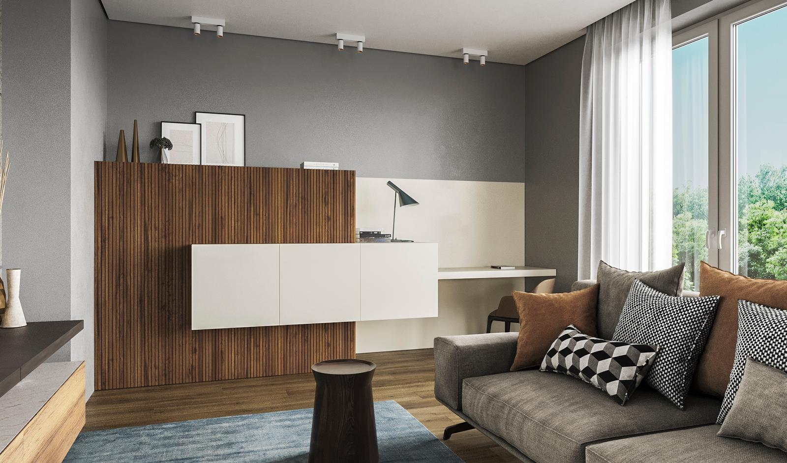 Progettazione soggiorno D'Amico Arreda